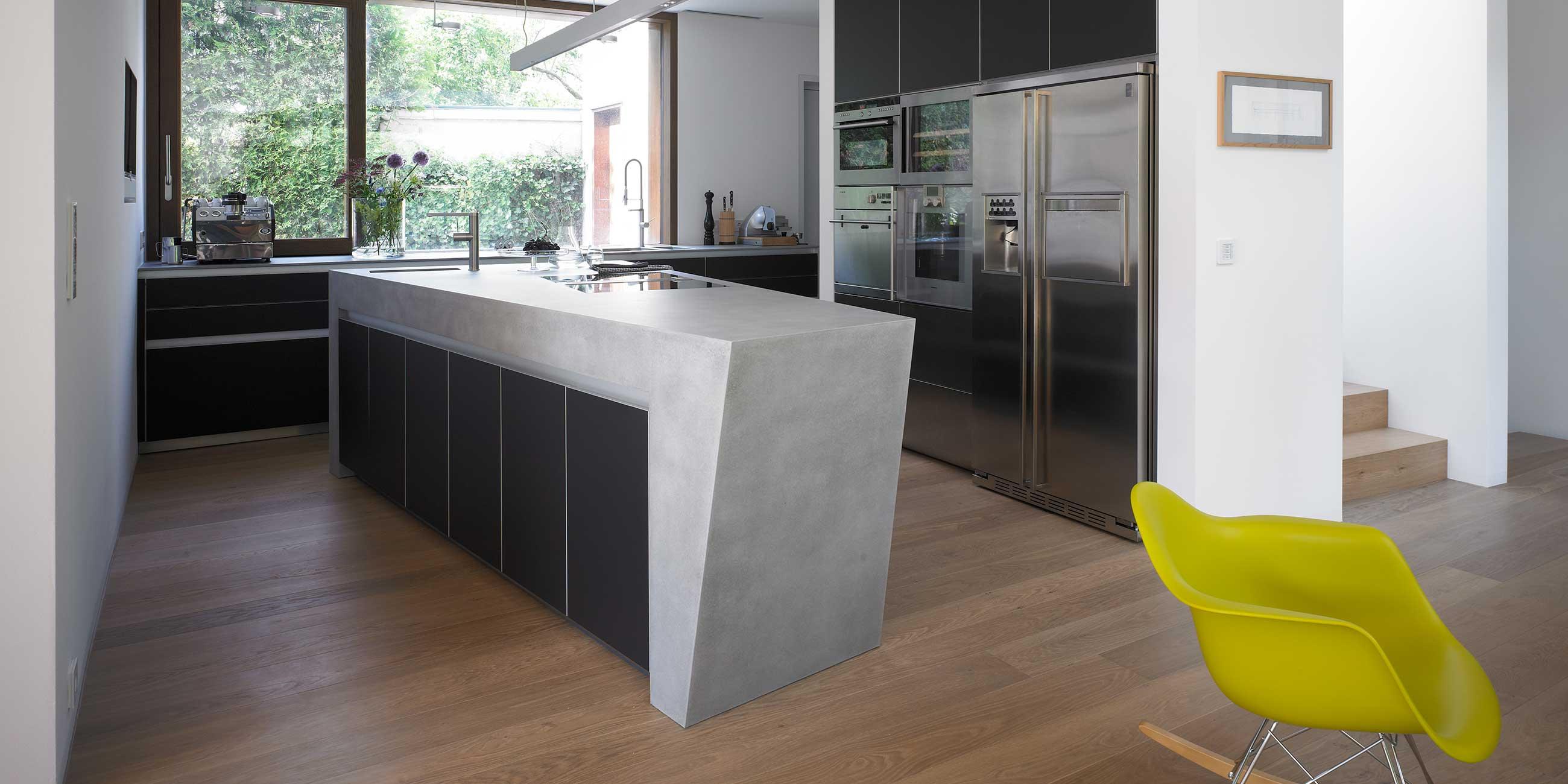 Küche aus Beton · werkhaus Küchen · Designküchen aus Rosenheim